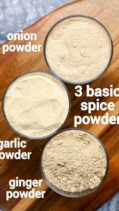 Ginger Powder Recipe, Onion Powder Recipe, Masala Powder Recipe, Recipe Ginger, Spicy Recipes, Indian Food Recipes, Cooking Recipes, Cooking Dishes, Homemade Spices