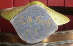 Cath Finch raku vase - signed