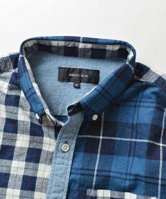【SHIPS JET BLUE (シップス ジェットブルー): インディゴ パッチワークBDシャツ■】SHIPS JET BLUEのオリジナルシャツ先染めのインディ…