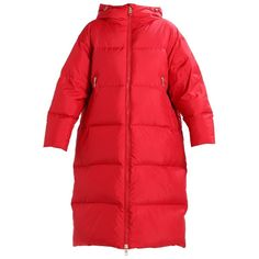 Tommy Hilfiger COURTNEY Down coat (13.130 UYU) ❤ liked on Polyvore featuring outerwear, coats, red down coat, red coat and down coat