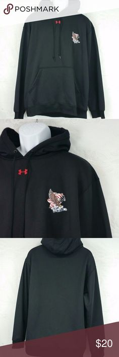 """Under Armour Stay Army Military Eagle XL Hoodie The top is a size XL.  The body is 100% polyester.  RIB is 95% polyester and 5% elastane.  Measurements are shown in the pictures.   Let me know if you have any questions.  If you like the item but not the price, just send me an offer or a message.   Marked size XL- rough measurements are 26"""" BUST (PITT TO PITT) and 28  1/2"""" LENGTH. Under Armour Shirts Sweatshirts & Hoodies"""