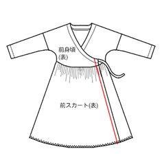 【型紙・作り方】カシュクールワンピース