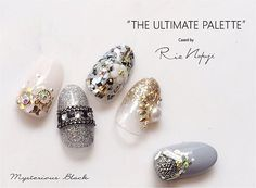 THE ULTIMATE PALETTE  Cased by Rie Nofuji ・ 7/10.11 アジアネイルフェスティバル  nail for allブースにて 数量限定先行発売!! ・ イベント価格¥2,300- *Mysterious Black*ブラック&ゴールド  パレット中身は4日前のpostチェックしてみてください✨  #nail#nails#gelnails#nailart#ネイル#ジェルネイル#美甲#네일#젤네일#nailsalonrenee#ネイルサロンレネ#3Dattacker#フルーリアジェル#love#instagood#tbt#photooftheday