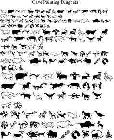 Cave Painting Dingbats Font