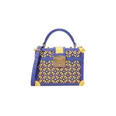 Mayra Fedane Lilly Trunk Bag ($730) ❤ liked on Polyvore featuring bags, handbags, shoulder bags, multi, mini purse, leather handbags, sequin shoulder bag, mini leather handbags and multi colored leather handbags