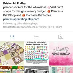 Do you follow @plantasia_studios? If not you should! #followthatplanner #followfriday #etsyseller #plannerstickers