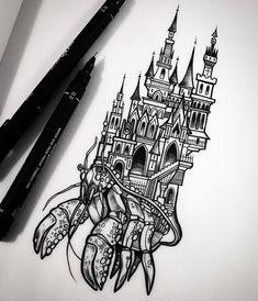 Forarm Tattoos, S Tattoo, Body Art Tattoos, New Tattoos, Baker Tattoo, Tattoo Nightmares, Castle Tattoo, Alien Tattoo, Gothic Tattoo