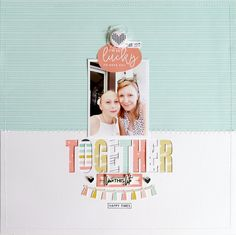 Hi everyone! Are you enjoying the gorgeous Caroline Kit as much as I am? Today I have a layout to share with you using a variety of the pretty papers from the k