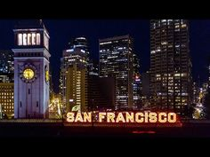 San Francisco Via Drone: Port of SF Transamerica Pyramid Union Square Chinatown AT&T Park Golden Gate bridge