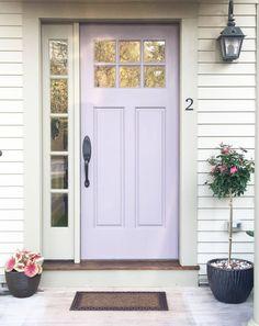 Front Door Design: A Complete Guide to Creating Front Door Curb Appeal Purple Front Doors, Best Front Doors, Painted Front Doors, Front Door Colors, Front Door Decor, Purple Door, Craftsman Front Doors, Black Interior Doors, Front Door Makeover