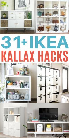 Find Ikea kallax hacks and easy ideas. Hacks for the kids playroom and toys, tv . Find Ikea kallax hacks and easy ideas. Hacks for the kids playroom and toys, tv stand in living roo Bookcase Storage, Ikea Storage, Bedroom Storage, Storage Ideas, Kitchen Storage, Closet Storage, Toy Storage, Nursery Storage, Office Storage
