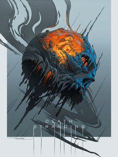 Trevino Art, Dead Stranding, Happy One Year Anniversary, Kojima Productions, Concept Art World, Fan Art, Skull Art, Dark Fantasy, Surrealism