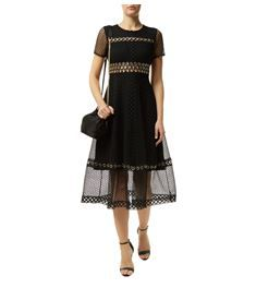 View the Rome Eyelet Lace Midi Dress