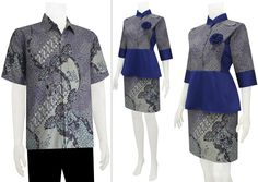 Baju Batik Dress Sarimbit Modern