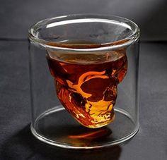 Mug Shot Drink Beer Whiskey Skull Crystal Cocktail Glass Bar Christmas Party Skull Shot Glass, Shot Cups, Whiskey Shots, Alcohol Bottles, Halloween Mug, Skull Decor, My Bar, Beer Mugs, Cocktail Glass