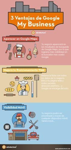 3 ventajas de Google My Business #infografías                                                                                                                                                                                 Más