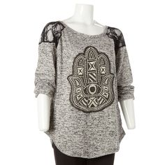 Mesh Hamsa Shirt -Jr. Plus