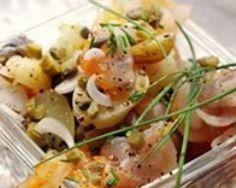 salade de haddock et harengs aux pommes de terre