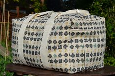 A little while ago I made this duffle bag using a Simplicity pattern (number 2274). I love this bag! It is such a good pattern and so easy to make! Most of the bag is just one large panel brought t...