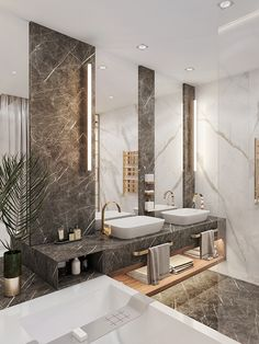 # Bathroom decor luxury # Bathroom decor gray and white # Bathroom decor design ide … – diy bathroom ideas Bad Inspiration, Bathroom Inspiration, Dream Bathrooms, Amazing Bathrooms, Luxurious Bathrooms, Small Luxury Bathrooms, Small Bathroom Interior, Bathroom Design Luxury, Modern Luxury Bathroom