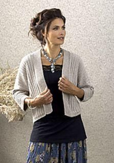 Ravelry: Allegra Jacket pattern by Margret Willson free pattern DK Shrug Knitting Pattern, Knit Shrug, Knitted Poncho, Knitted Shawls, Knitting Patterns Free, Knit Patterns, Free Knitting, Free Pattern, Crochet Coat