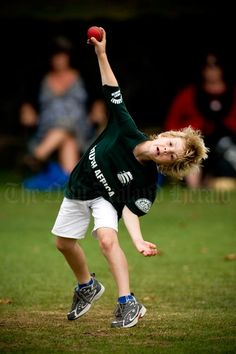 Children's cricket  Seven-year-old Trent Walker, from the North Shore in Auckland, takes part in a 'kids' cricket world cup' at Devonport Domain in January 2008. New Zealand Cricket has developed an ambitious programme of competitions to teach cricket skills to young New Zealanders.