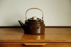 Enamel Coffee Pot / Tea Kettle by MicroscopeTelescope on Etsy