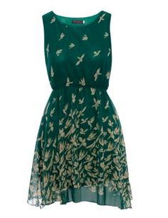 Tenki Green Flying Bird Chiffon Dress. Maybe not formal enough??