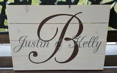 Initial With First Names pallet sign - Kelly Belly Boo-tique
