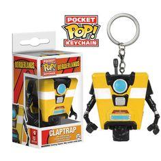 Funko Borderlands Pocket POP Claptrap Vinyl Figure Keychain - Radar Toys