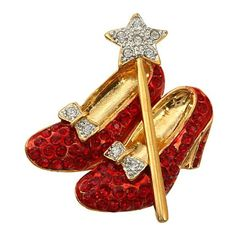 Finish Dorothy Wizard Crystal Brooch - CZ11W635WR7 - Brooches & Pins  #jewellrix #Brooches #Pins #jewelry #fashionstyle