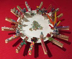 Xmas craft 2013: clothespin ornaments.