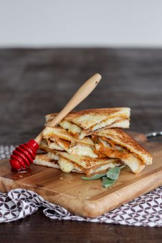 Roasted pumpkin, earthy sage, nutty melted gruyere, crisp bread and sweet honey make a perfect autumn grilled cheese sandwich.
