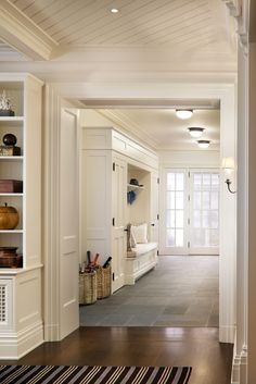 John B. Murray Architect: Recent Work  Great mudroom (love the baskets for bats and rackets, umbrellas too)