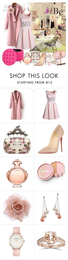 """Beautifully Yours"" by nicolevalents ❤ liked on Polyvore featuring Mode, Alexander McQueen, Christian Louboutin, Paco Rabanne, jane, Accessorize, Honora, CLUSE, Sonam Life und By Terry"