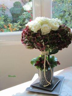 Roses et Hortensias...
