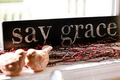 DIY sign. Love this for the wall by my dining room table. …