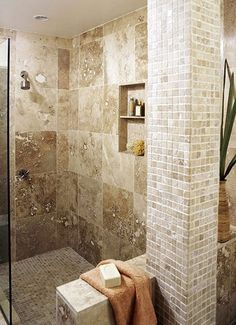 Bathroom Shower home-redesign.  I do need a new shower and I do like this one. :)