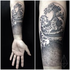 Hokusai's The Wave recover deleted photos android 2020 Wave Tattoo Sleeve, Ocean Sleeve Tattoos, Unique Half Sleeve Tattoos, Wave Tattoo Wrist, Nature Tattoo Sleeve, Sleeve Tattoos For Women, Nature Tattoos, Surf Tattoo, Forearm Tattoos