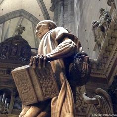 f you've ever been to Milan Cathedral, you've probably noticed the statue of St. Bartholomew in the right transept. He's hard to miss, staring creepily forward with overly-defined features and mus. Milan Cathedral, Tuna, Saints, Italy, Statue, Art, Art Background, Italia, Kunst
