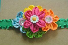 Flower Headband by ThreeHeartsBowtique on Etsy