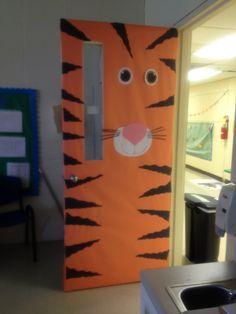 Classroom door ideas on Pinterest   Sports Theme Classroom Tigers . & Tiger Door   school   Pinterest   Tigers Classroom door and School