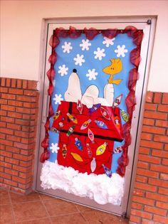 Snoopy Christmas Door