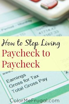 If you are tired of always having too much month left at the end of the money, we get it. Find out how to take steps to stop living paycheck to paycheck TODAY. Financial Peace, Financial Tips, Financial Literacy, Financial Planning, Ways To Save Money, Money Tips, Money Saving Tips, Money Budget, Budgeting Finances