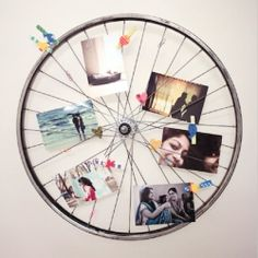 Turn a cycle tyre into a Photo-Holder/To-do lists! Fun couple craft for the weekend