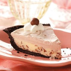Chocolate Malt Shoppe Pie Recipe from Taste of Home