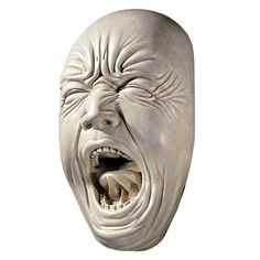 Screaming Face Hanging Wall Sculpture Statue Figurine Bathroom Scale Garden Yell