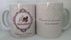 Caneca personalizada Casamento | by Luciana Godoy-Lembrancinhas personalizadas com exclusividade | Elo7
