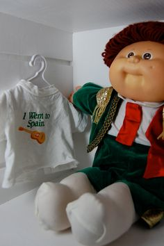 80s toys Vintage Cabbage Patch Kid Boy World Traveler by ellies80stoybox, $15.00