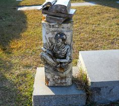 Open book gravestone - Greenlawn Cemetery Dillon County South Carolina